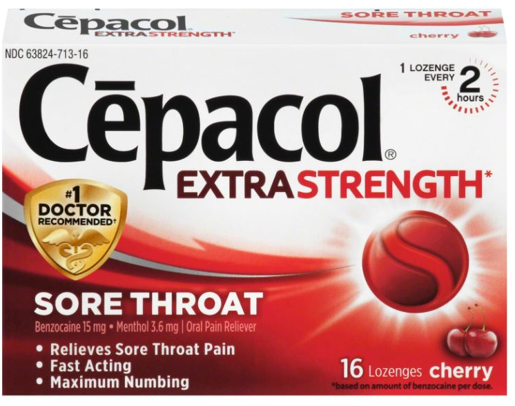 CEPACOL® Extra Strength Sore Throat Lozenges - Cherry