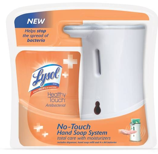 LYSOL NoTouch Hand Soap Starter Kit  Total Care Discontinued Photo