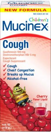 MUCINEX® CHILDREN'S Cough/Chest Congestion - Cherry