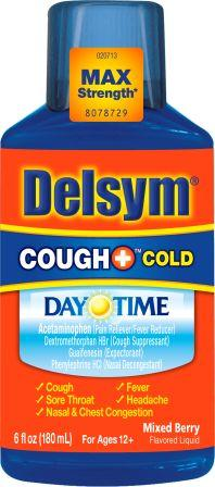 DELSYM® COUGH+™ Cold Day Time Liquid - Mixed Berry