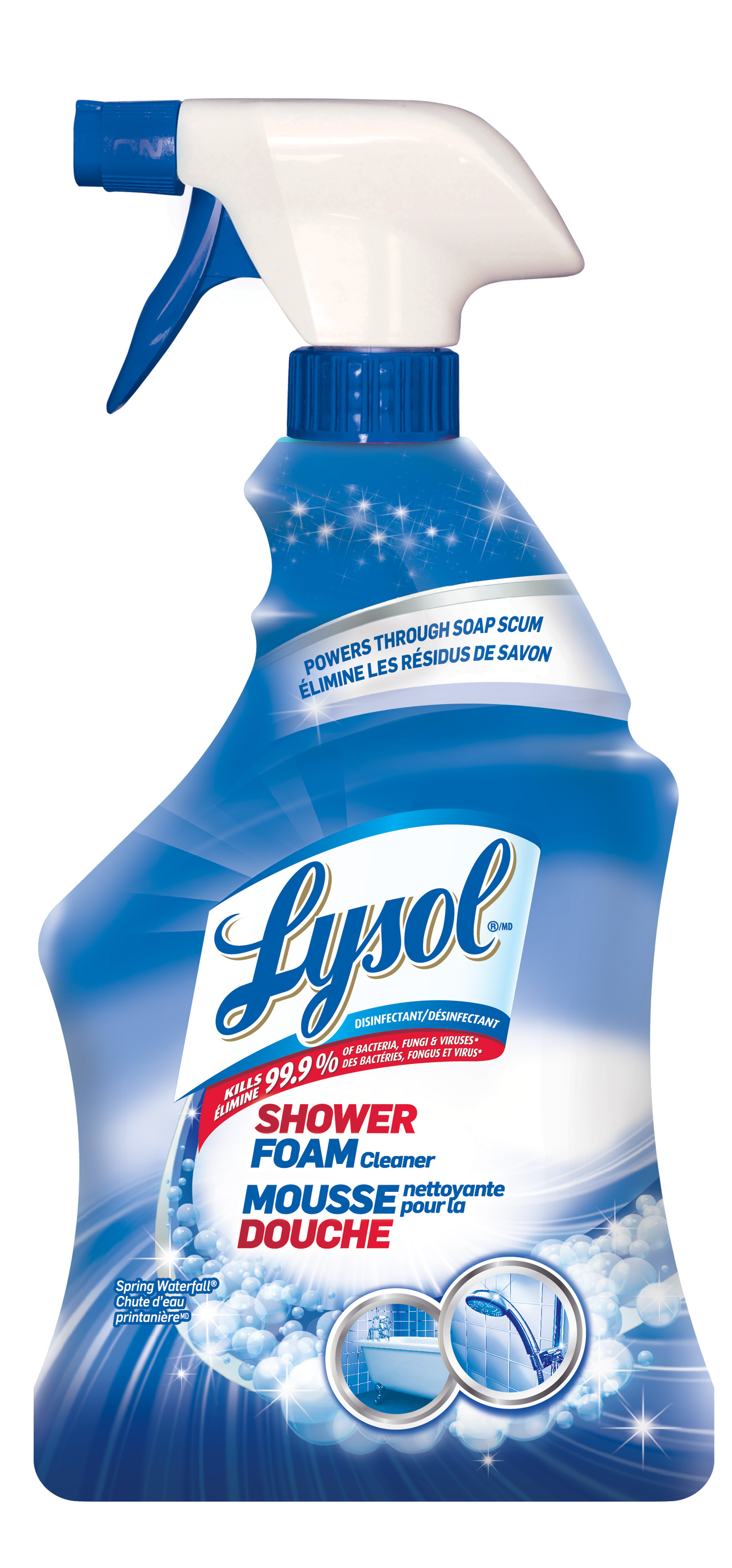 LYSOL® Disinfectant Shower Foam Cleaner - Trigger - Spring Waterfall (Canada)
