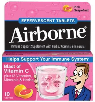 AIRBORNE® Effervescent Tablets - Pink Grapefruit