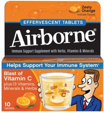 AIRBORNE® Effervescent Tablets - Zesty Orange