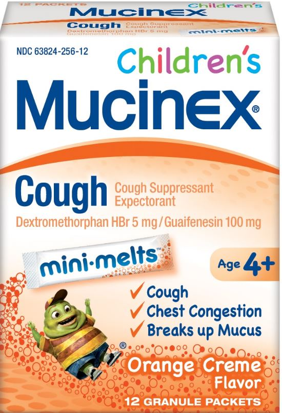 MUCINEX® CHILDREN'S Mini-Melts™ Cough - Orange Cream