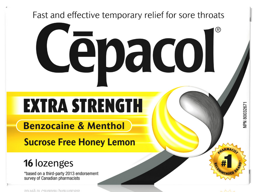 CEPACOL® Extra Strength Sucrose Free Honey Lemon Lozenges (Canada)
