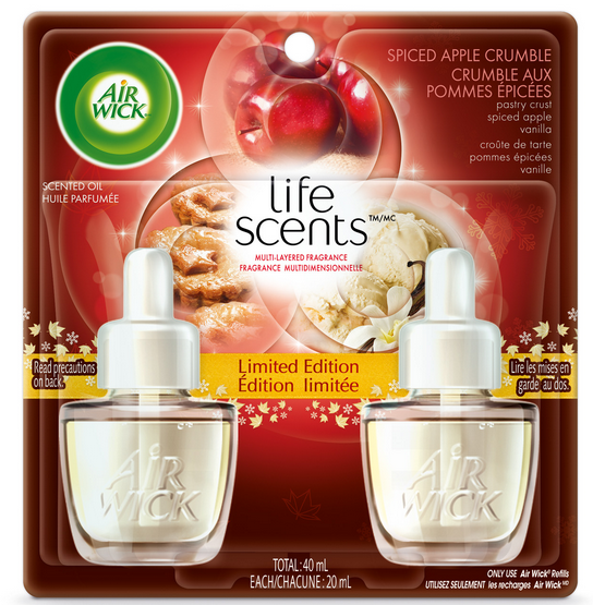 AIR WICK Scented Oil  Spiced Apple Crumble Life Scents Canada Photo