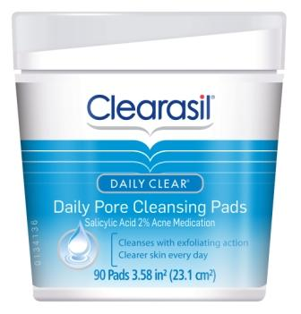 CLEARASIL® DAILY CLEAR® Daily Pore Cleansing Pads (Discontinued)