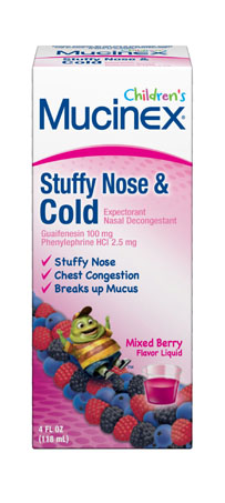 MUCINEX® CHILDREN'S Stuffy Nose & Cold - Mixed Berry