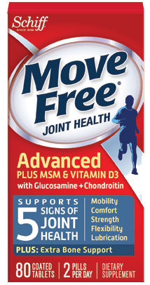 MOVE FREE® Advanced Plus MSM & Vit D with Glucosamine + Chondroitin Tablets