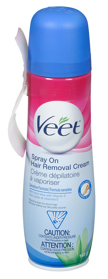 VEET® Spray On Hair Removal Cream Legs & Body - Sensitive Formula (Canada)