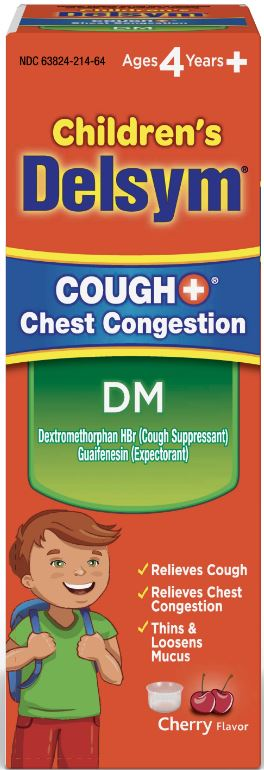 DELSYM® Children's Cough+® Chest Congestion DM - Cherry