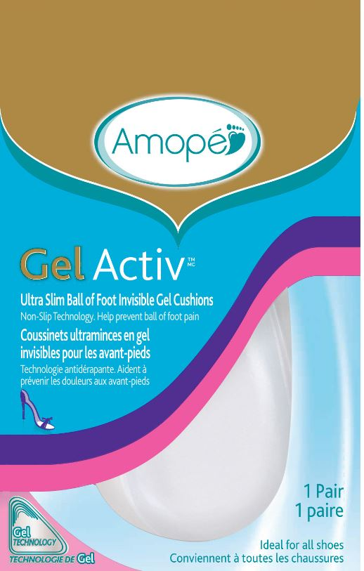 AMOPE® GelActiv™ Ultra Slim Ball of Foot Invisible Gel Cushions (Canada)