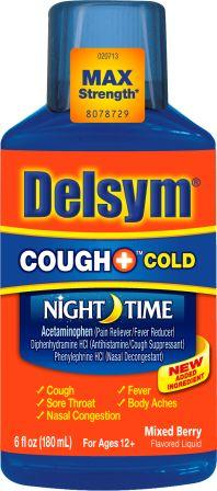 DELSYM® COUGH+™ Cold Night Time Liquid - Mixed Berry
