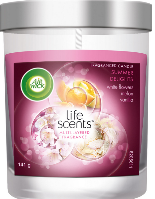 AIR WICK Fragranced Candle  Summer Delights Life Scents Canada Photo