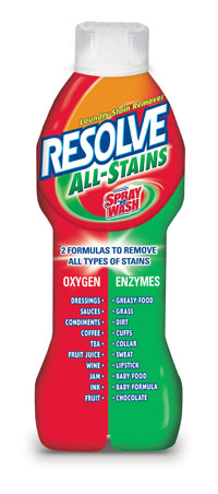 RESOLVE® ALL STAINS™ Laundry Stain Remover - ENZYME (COLORLESS) SIDE (USA) - Discontinued