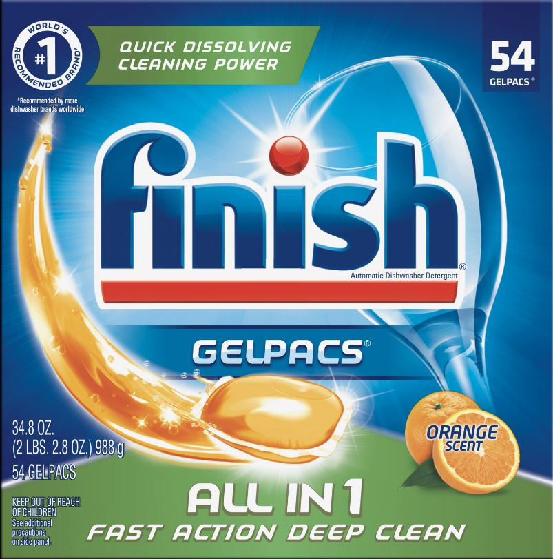 FINISH® GelPacs® All In 1 - Orange Scent