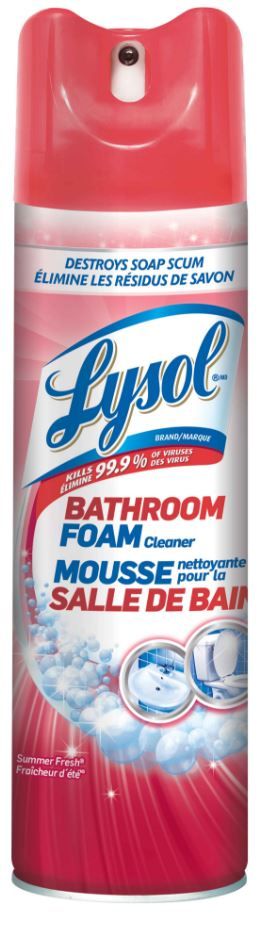 LYSOL® Disinfectant Bathroom Foam Cleaner - Aerosol - Summer Fresh (Canada)