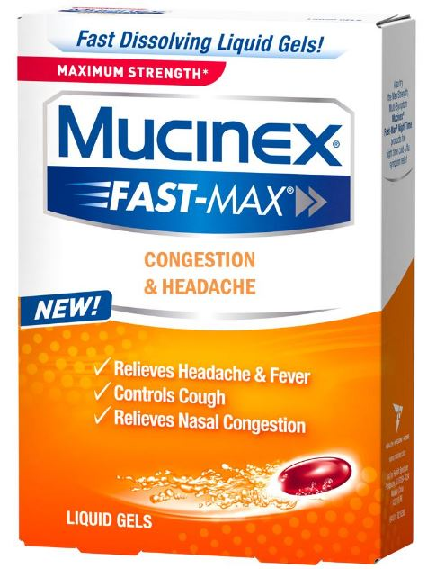 MUCINEX FASTMAX Congestion  Headache Liquid Gels Photo