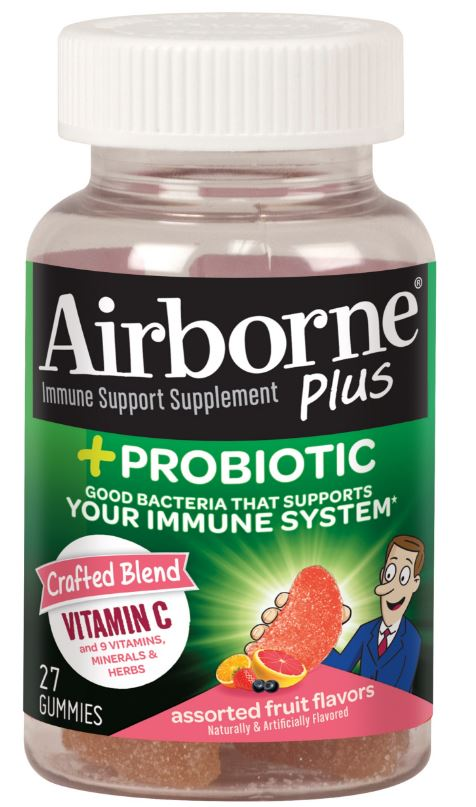 AIRBORNE® Plus Probiotic Gummies - Assorted Fruit Flavors