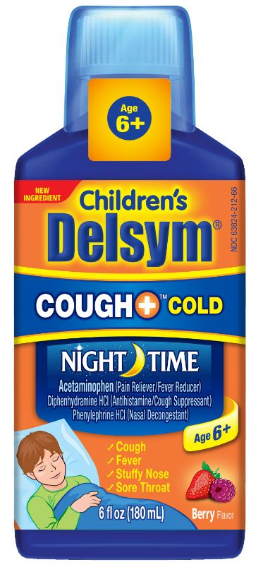 DELSYM® Children's Cough+® Cold Night Time Liquid - Berry