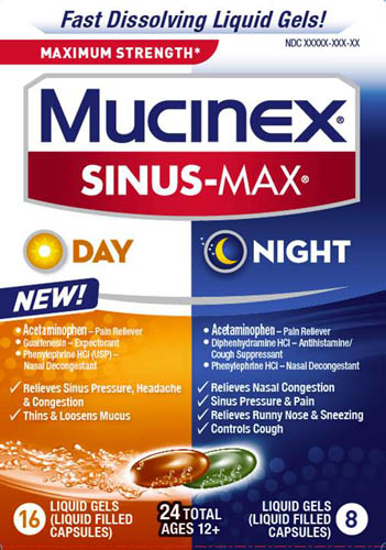 MUCINEX® SINUS-MAX® Day and Night Liquid Gels (Day)