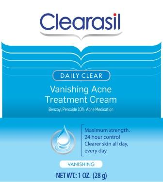 CLEARASIL® DAILY CLEAR® Vanishing Acne Treatment Cream (USA)