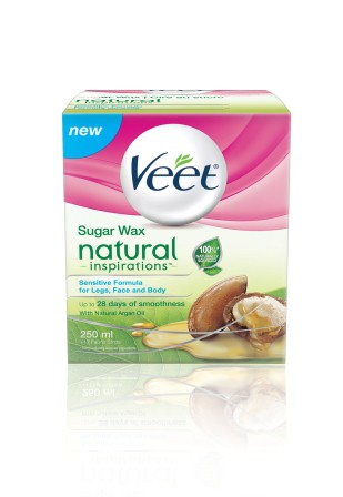 VEET® NATURAL INSPIRATIONS™ Sugar Wax for Legs, Face & Body - Sensitive Formula