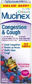 MUCINEX® CHILDREN'S Congestion & Cough - Berrylicious