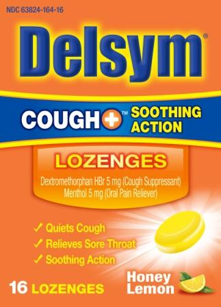 DELSYM® COUGH+™ Soothing Action Lozenges - Honey Lemon