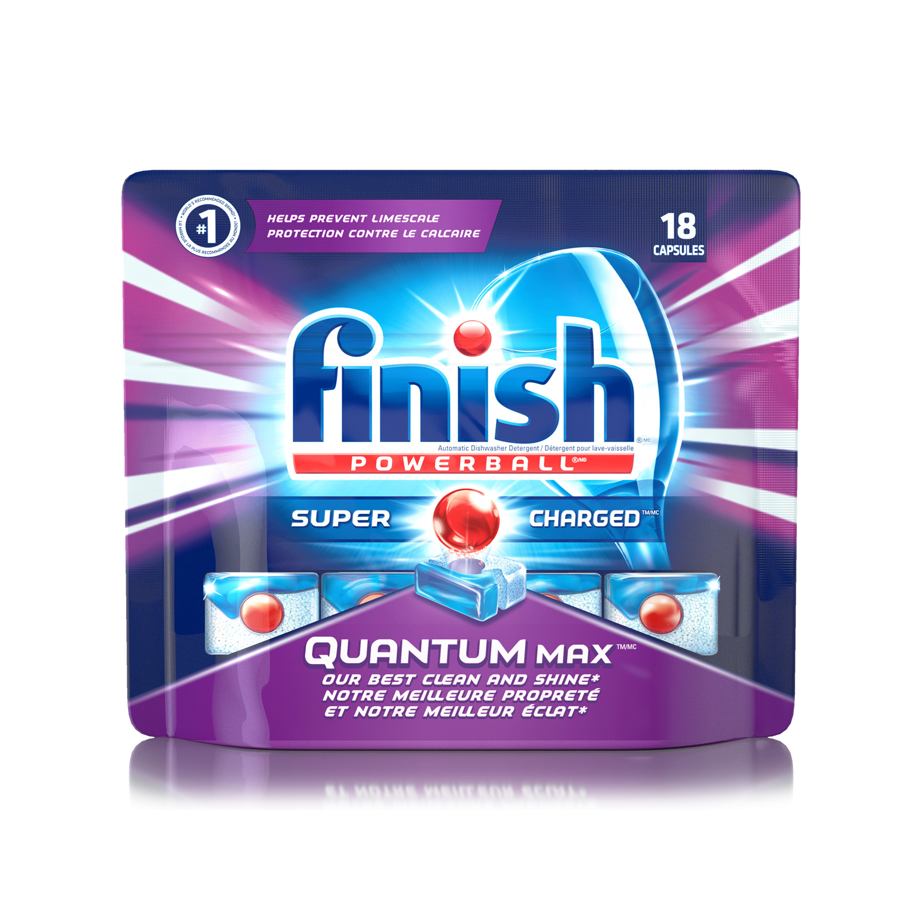 FINISH® Powerball® Quantum Max™ Super Charged® Capsules (Canada)