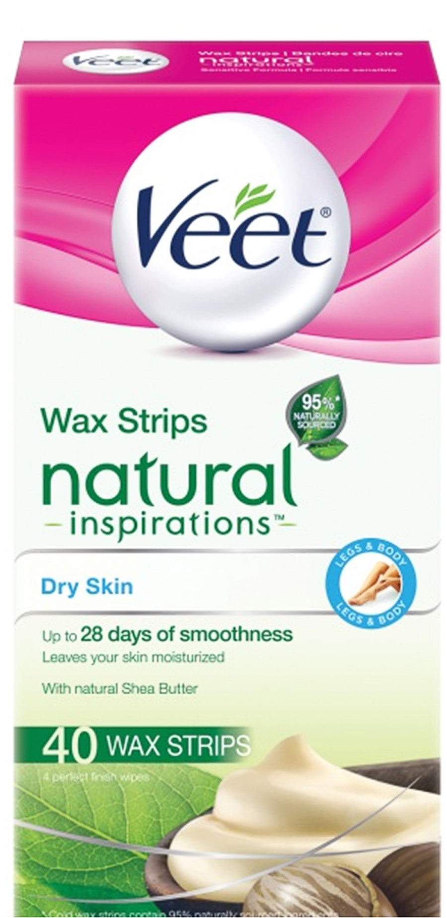 VEET® Natural Inspirations™ Wax Strips - Dry Skin (Wipes)