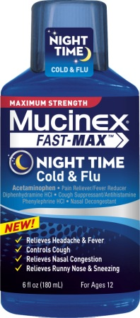 MUCINEX® FAST-MAX® Night Time Cold & Flu Liquid