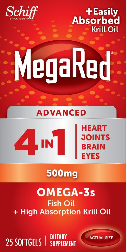 MegaRed® Advanced 4 In 1 Omega-3s - 500 mg Softgels