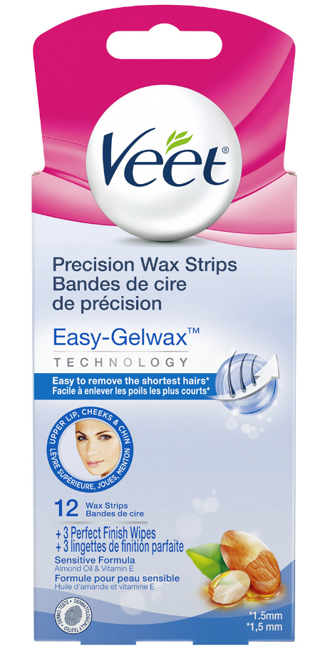 VEET® Easy-Gelwax™ Kit Precision Wax Strips - Face - Part 2 Wipes