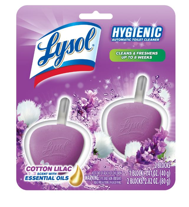 LYSOL® Hygienic Automatic Toilet Cleaner - Cotton Lilac Scent