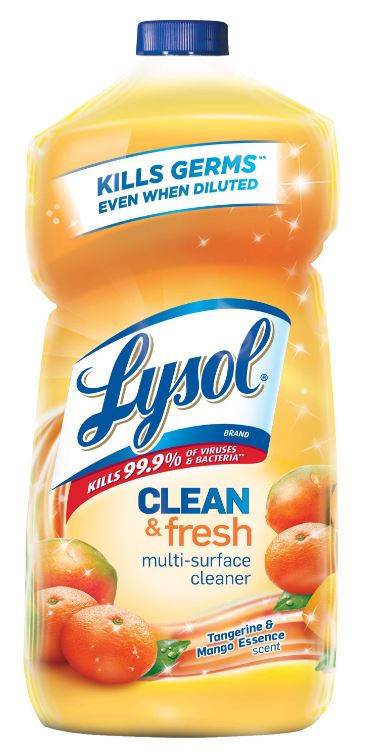 LYSOL Clean  Fresh MultiSurface Cleaner  Tangerine  Mango Essence Photo