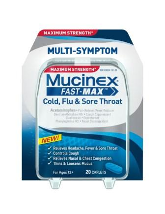 MUCINEX® FAST-MAX™ Cold, Flu & Sore Throat Caplets