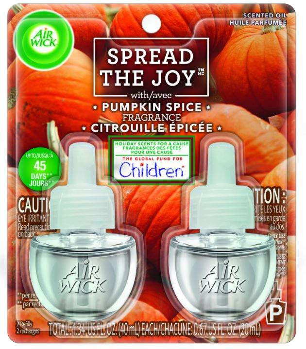 AIR WICK Scented Oil  Pumpkin Spice Spread The Joy Photo