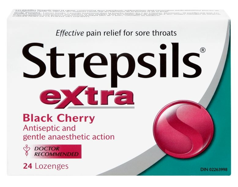 STREPSILS® Extra Sore Throat Lozenges - Black Cherry (Canada)