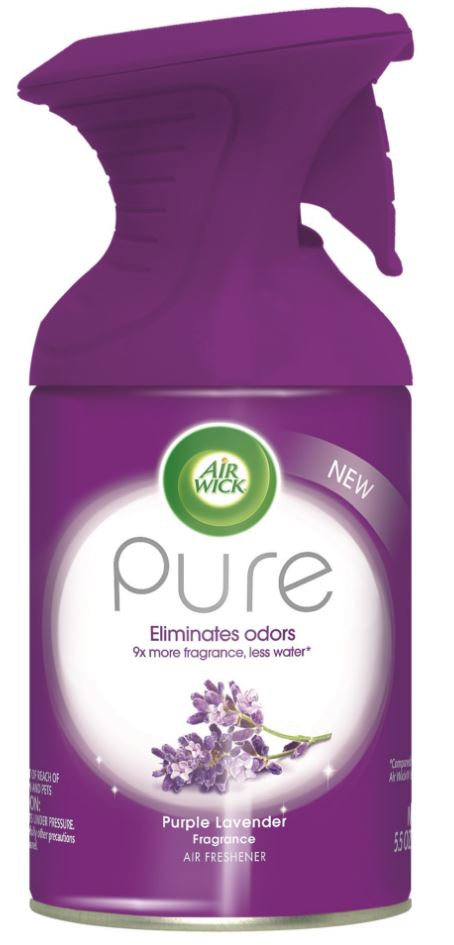 AIR WICK® Pure Air Freshener Aerosol - Purple Lavender Fragrance