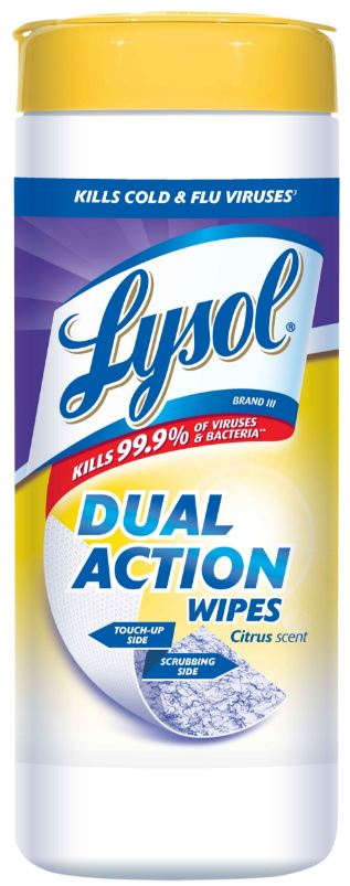 LYSOL® Dual Action Disinfecting Wipes - Citrus