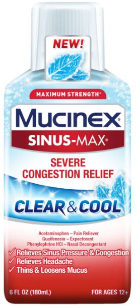 MUCINEX® SINUS-MAX® Clear & Cool - Severe Congestion Relief