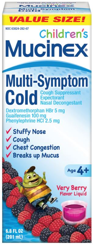 MUCINEX® CHILDREN'S Multi-Symptom Cold - Very Berry