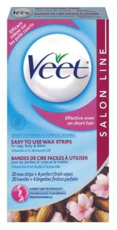 VEET® Easy To Use Wax Strips - Legs, Body & Bikini - Sensitive Formula - Product A