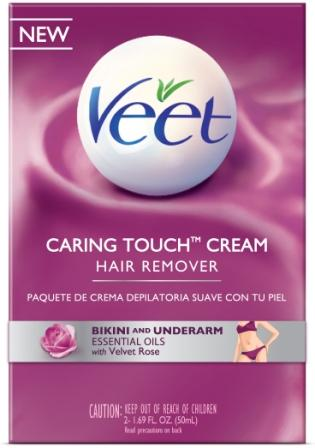 VEET® CARING TOUCH™ Bikini & Underarm Hair Remover Cream Kit - Product B (USA) (Discontinued)