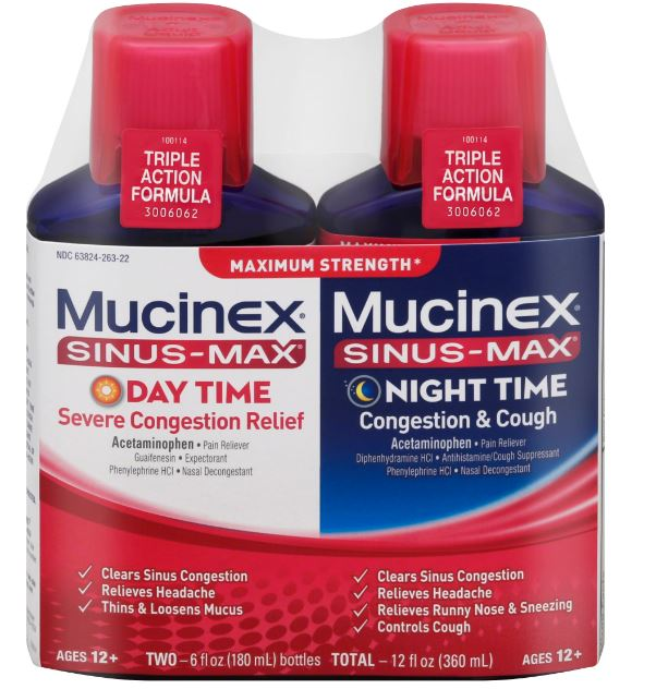 MUCINEX® SINUS-MAX® Day Night - Congestion & Cough (Night)