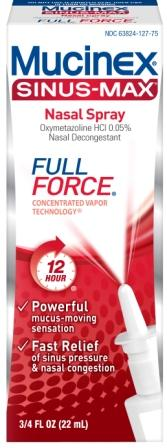 MUCINEX® SINUS-MAX Nasal Spray - FULL FORCE
