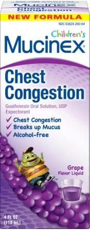 MUCINEX® CHILDREN'S Chest Congestion - Grape