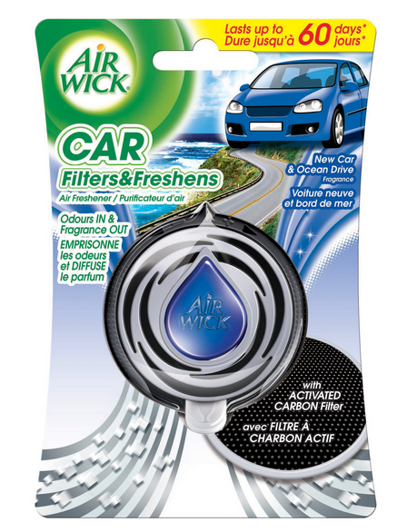 AIR WICK® CAR Filters & Freshens Air Freshener - New Car & Ocean Drive (Canada)