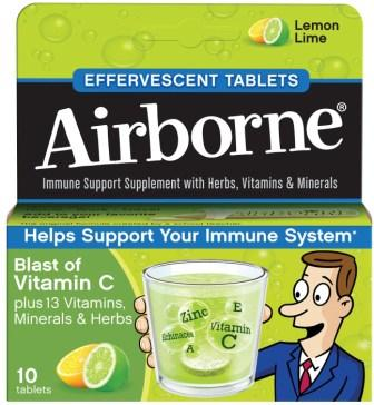 AIRBORNE® Effervescent Tablets - Lemon Lime